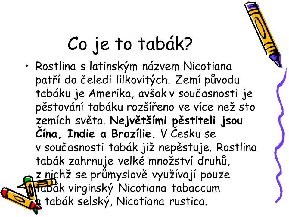 Co je to tabák