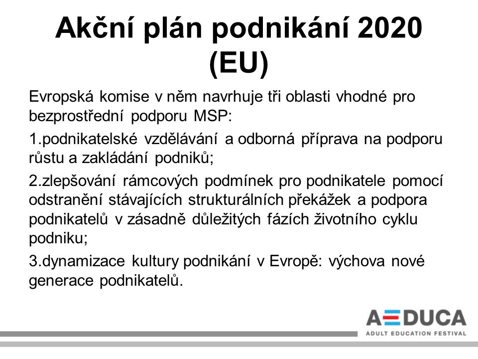 Akční plán podnikání 2020 (EU)