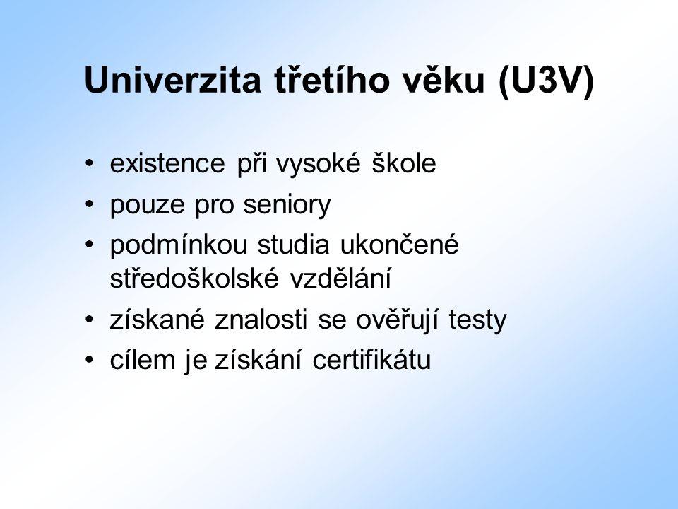 Univerzita třetího věku (U3V)