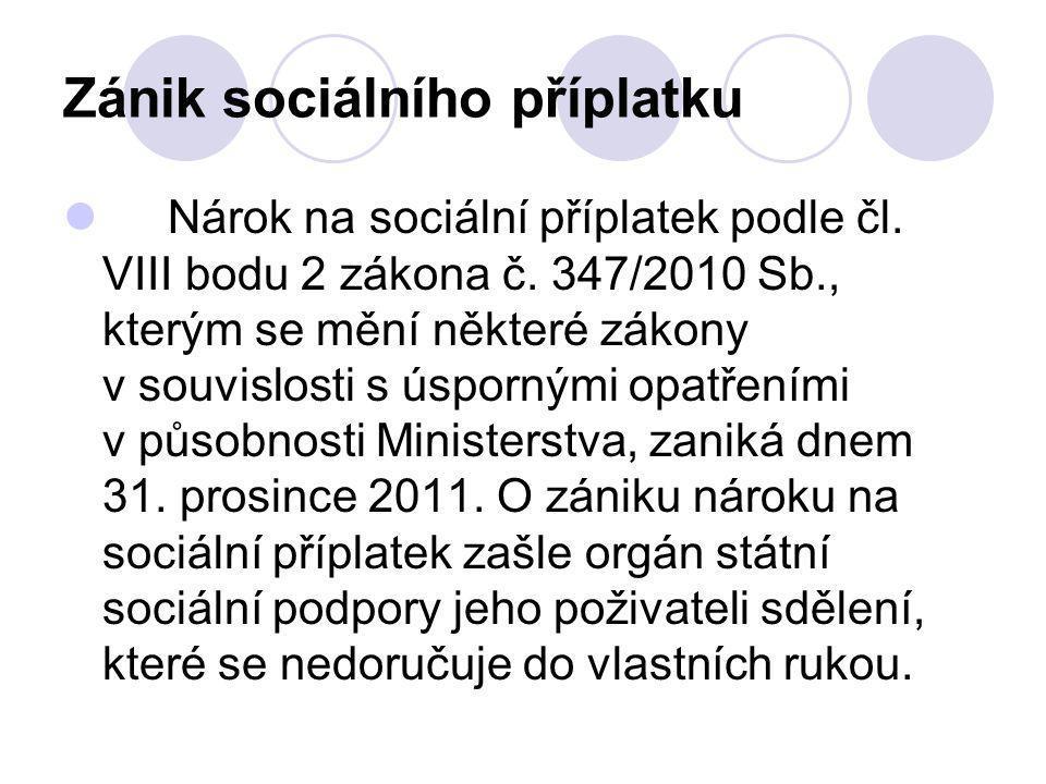 Zánik sociálního příplatku