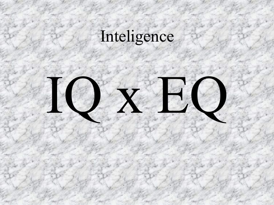 Inteligence IQ x EQ