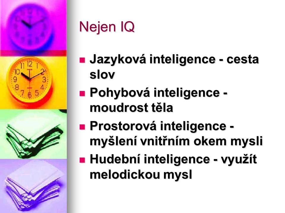 Nejen IQ Jazyková inteligence - cesta slov