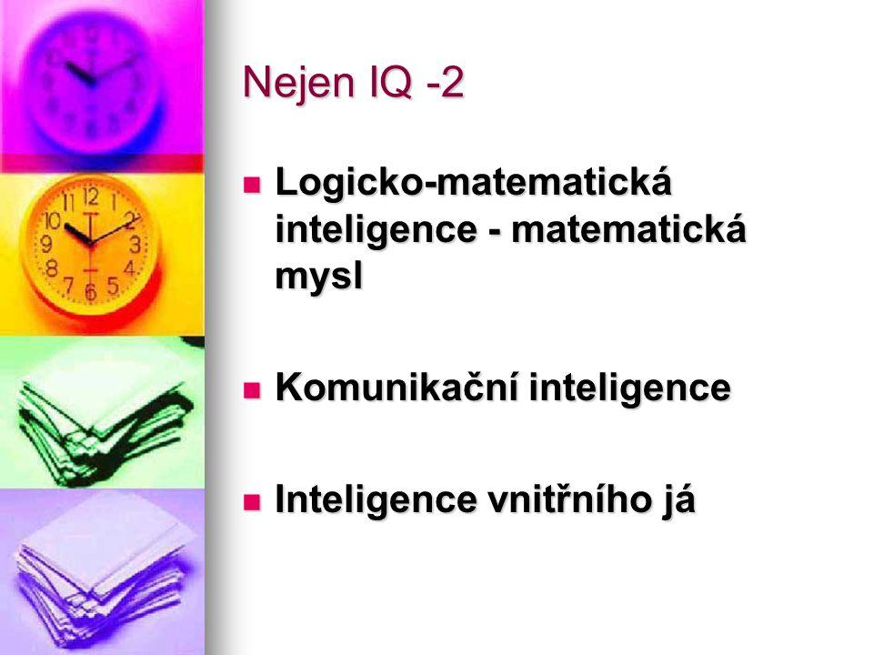 Nejen IQ -2 Logicko-matematická inteligence - matematická mysl