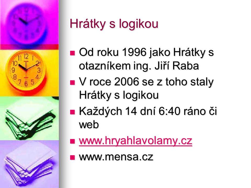 Hrátky s logikou Od roku 1996 jako Hrátky s otazníkem ing. Jiří Raba