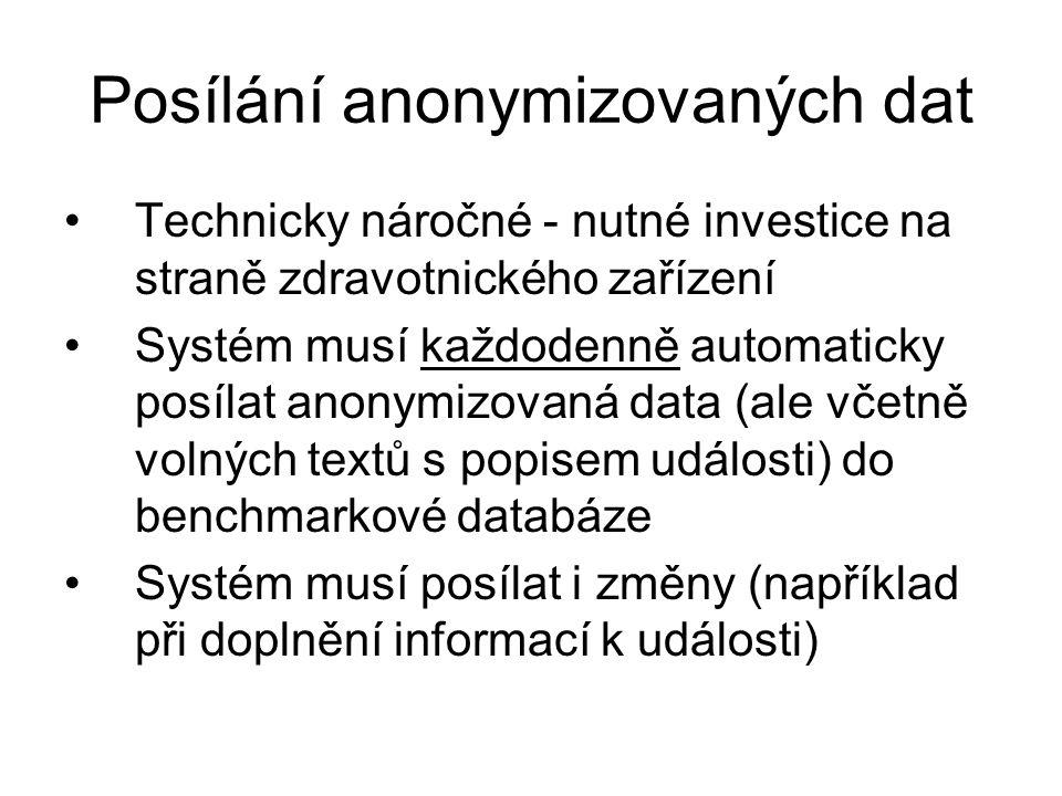 Posílání anonymizovaných dat