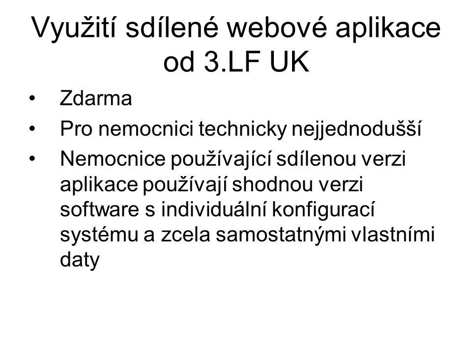 Využití sdílené webové aplikace od 3.LF UK