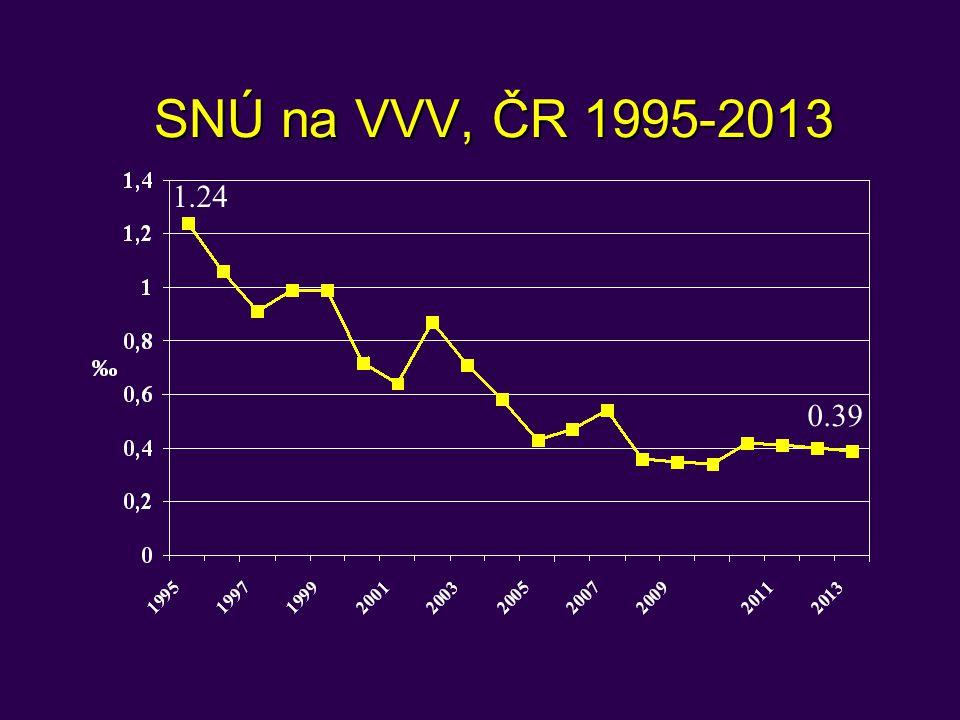SNÚ na VVV, ČR 1995-2013 1.24 0.39