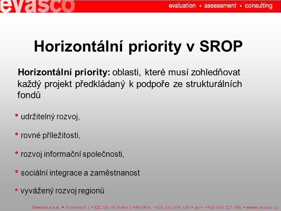 Horizontální priority v SROP