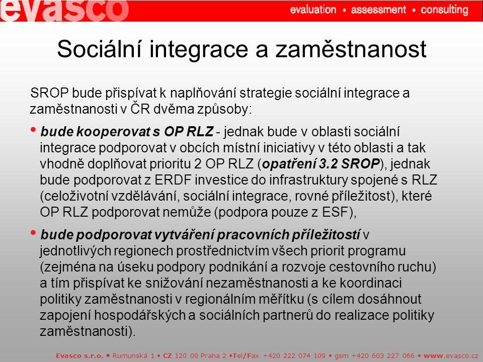 Sociální integrace a zaměstnanost