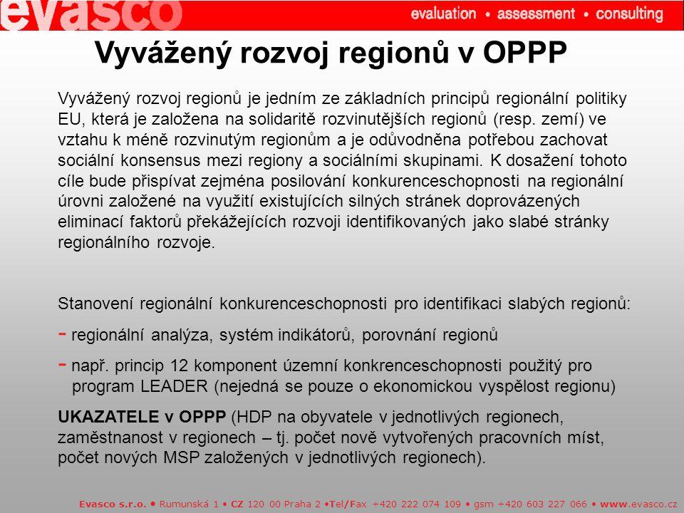 Vyvážený rozvoj regionů v OPPP