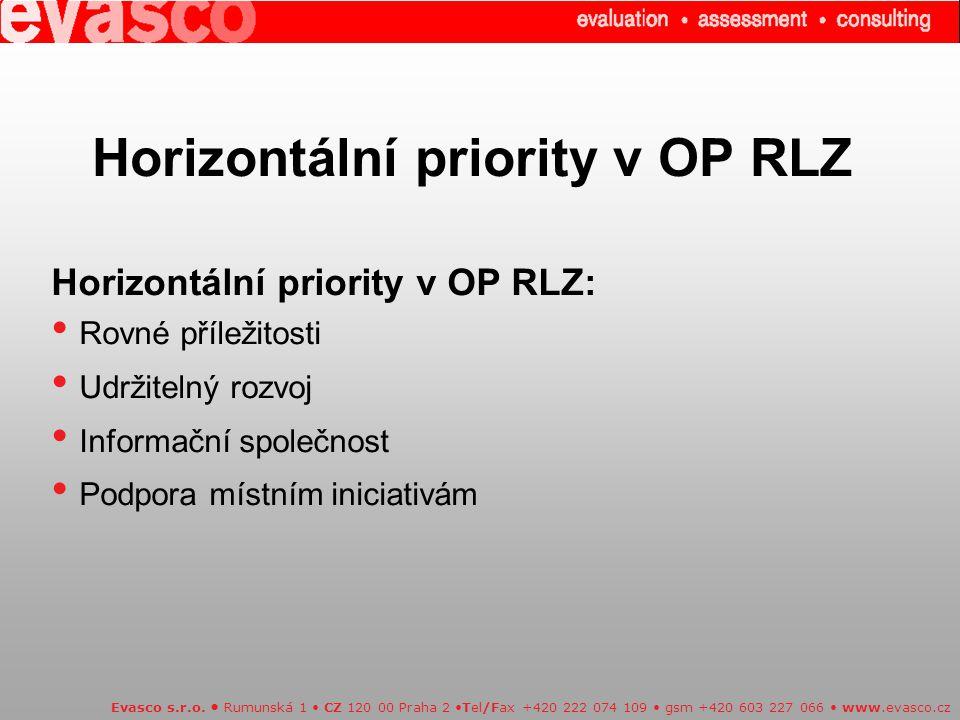 Horizontální priority v OP RLZ