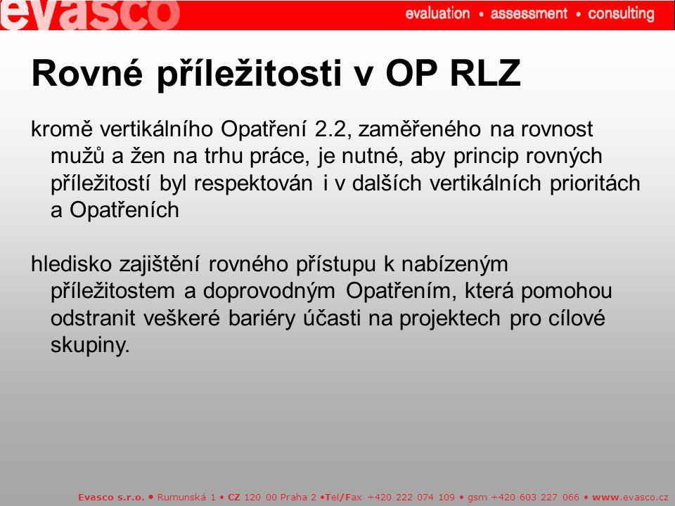 Rovné příležitosti v OP RLZ