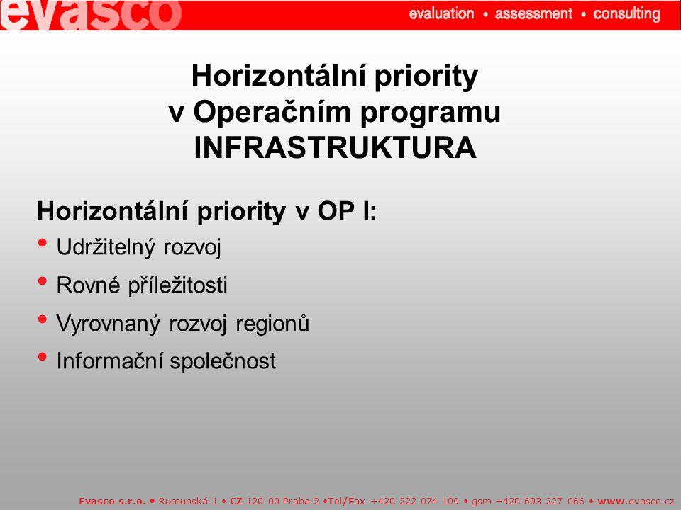 Horizontální priority v Operačním programu INFRASTRUKTURA