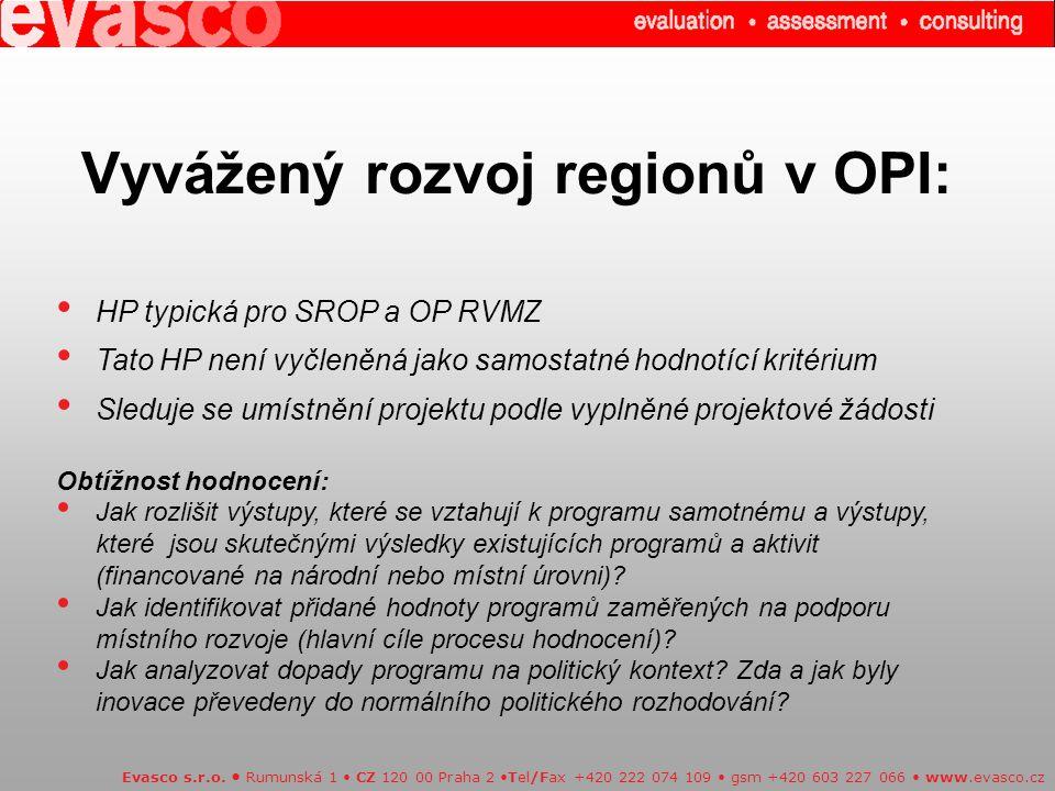 Vyvážený rozvoj regionů v OPI: