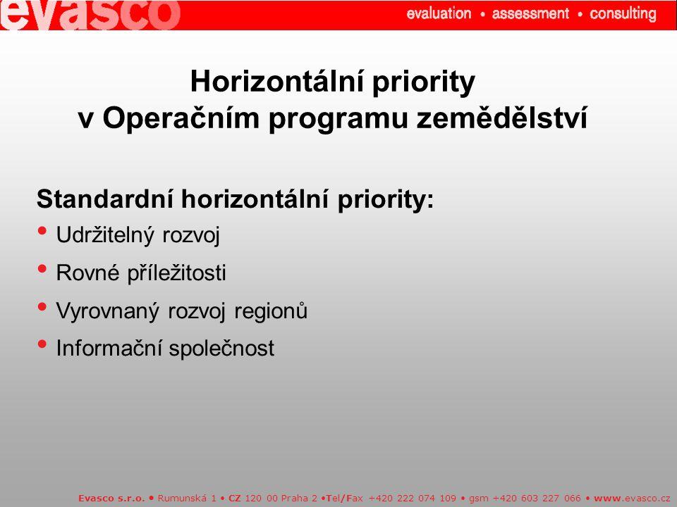 Horizontální priority v Operačním programu zemědělství