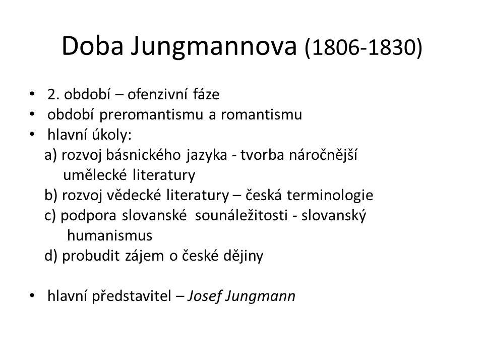 Doba Jungmannova (1806-1830) 2. období – ofenzivní fáze