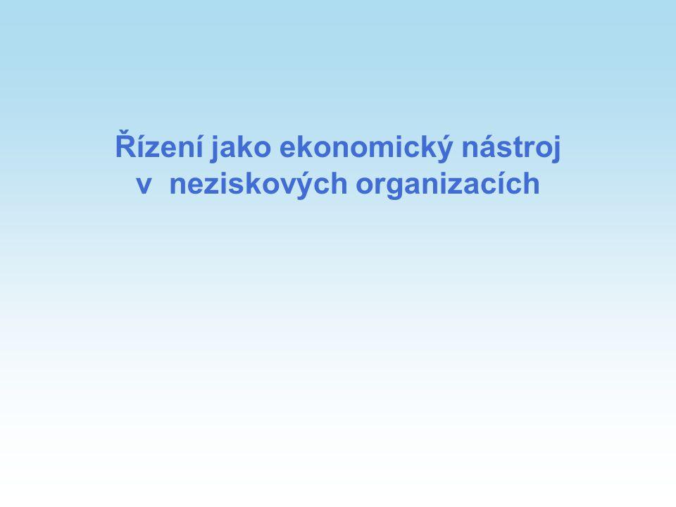 Řízení jako ekonomický nástroj v neziskových organizacích