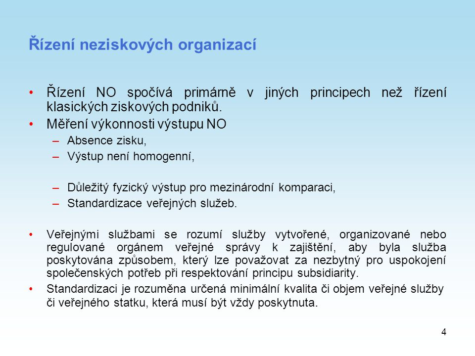 Řízení neziskových organizací