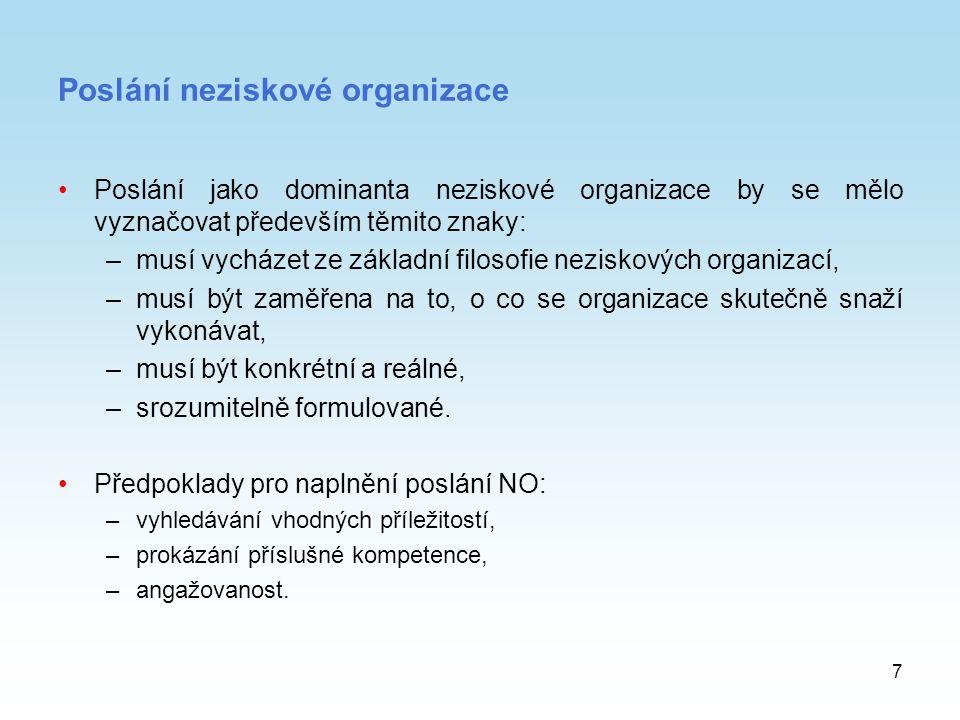 Poslání neziskové organizace
