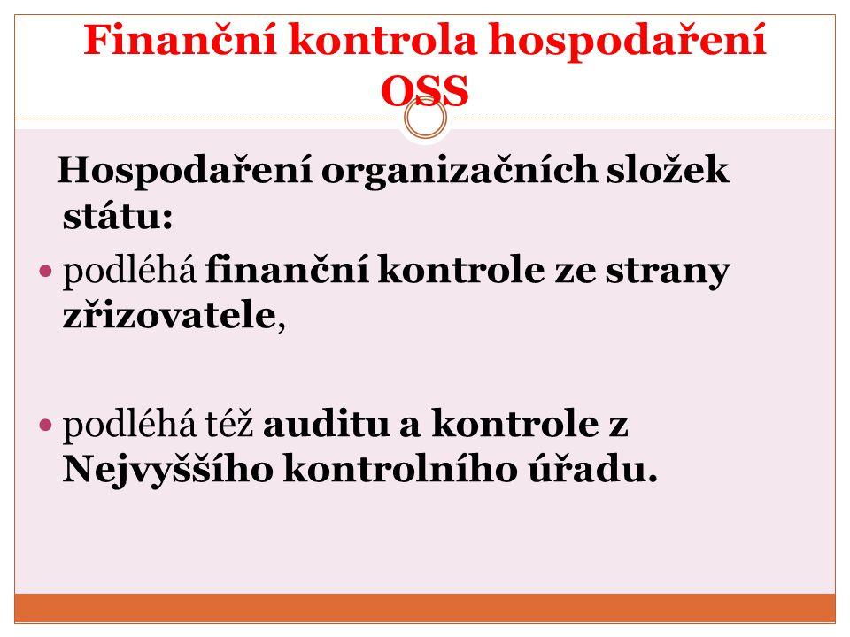 Finanční kontrola hospodaření OSS