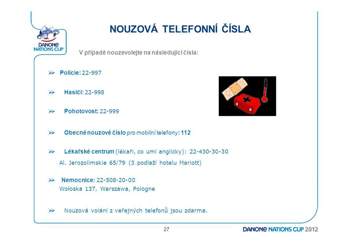NOUZOVÁ TELEFONNÍ ČÍSLA