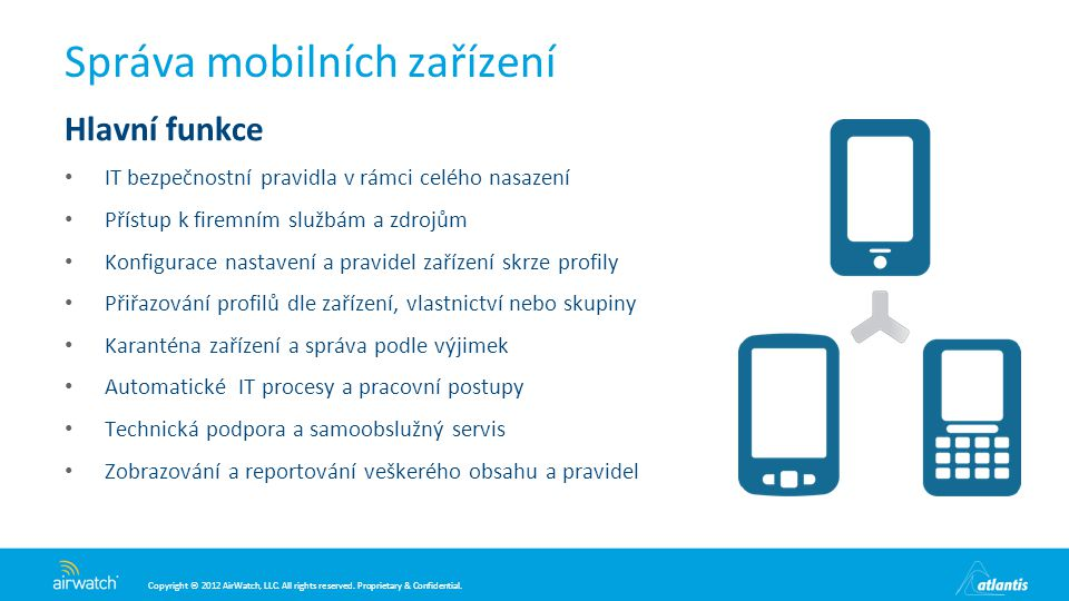 Správa mobilních zařízení