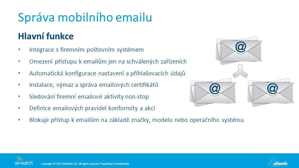 Správa mobilního emailu