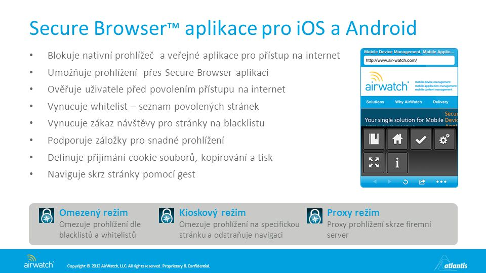 Secure Browser™ aplikace pro iOS a Android