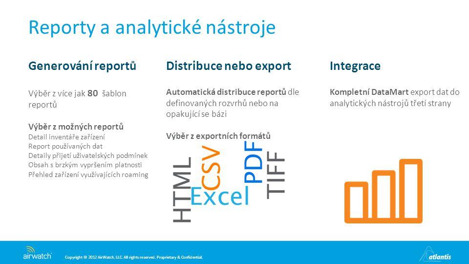 Reporty a analytické nástroje