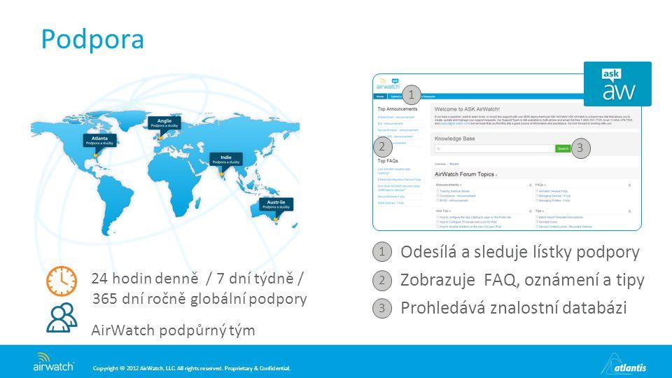 Podpora Odesílá a sleduje lístky podpory
