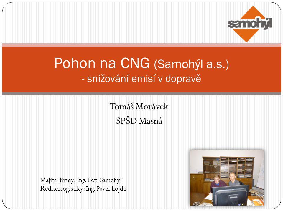 Pohon na CNG (Samohýl a.s.) - snižování emisí v dopravě