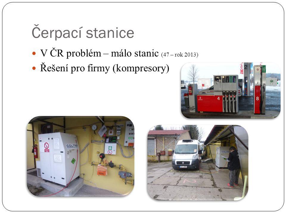 Čerpací stanice V ČR problém – málo stanic (47 – rok 2013)