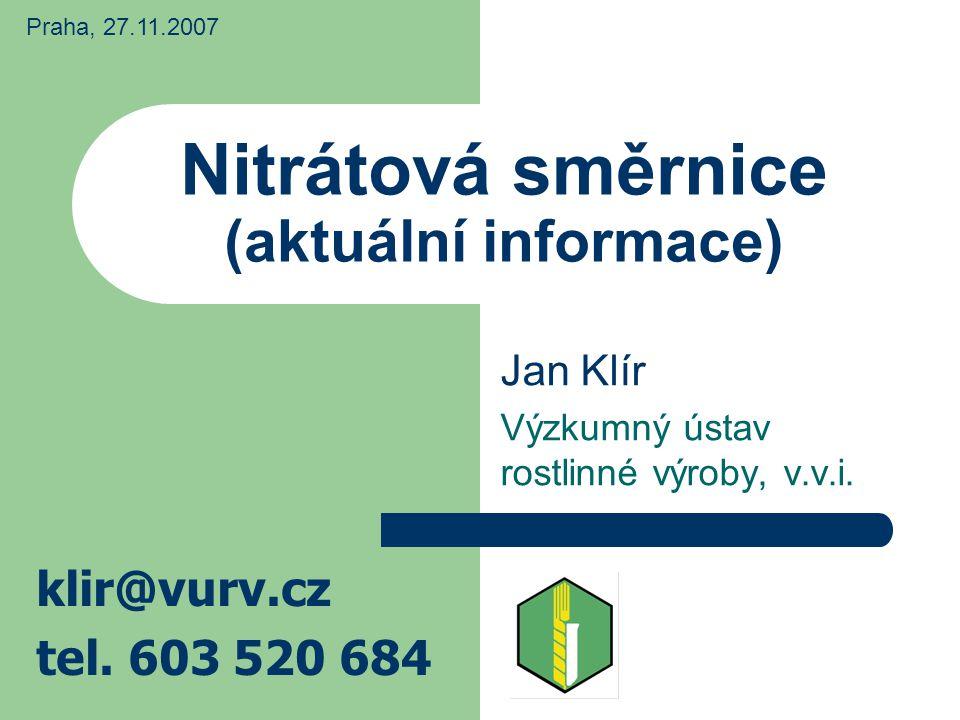 Nitrátová směrnice (aktuální informace)