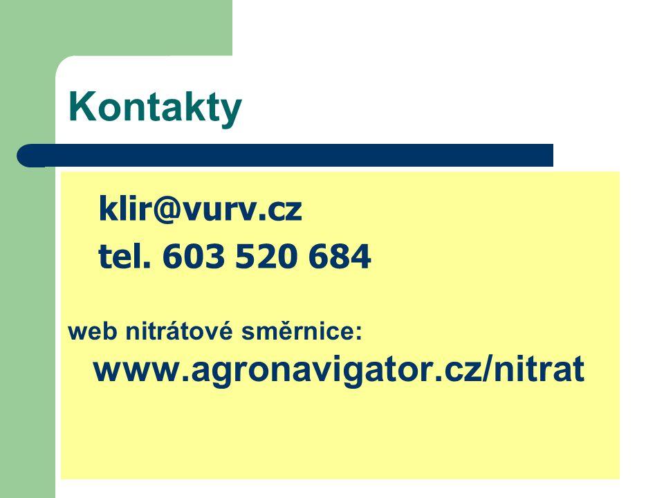 Kontakty klir@vurv.cz tel. 603 520 684