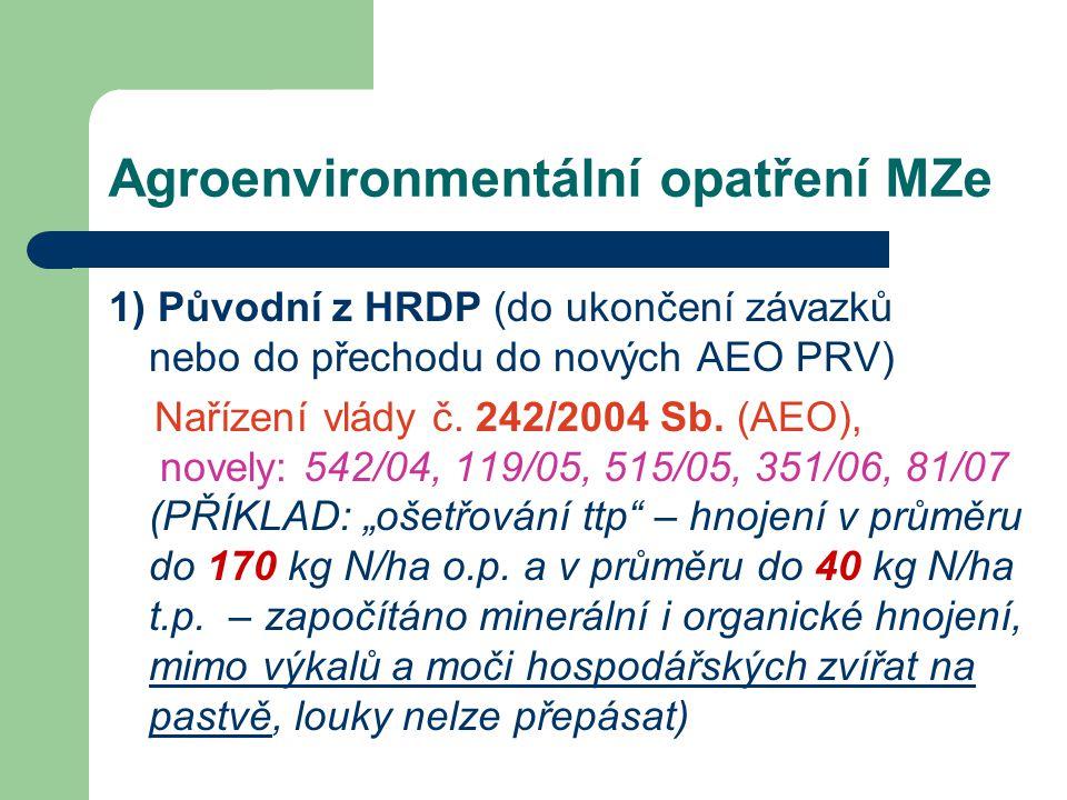 Agroenvironmentální opatření MZe