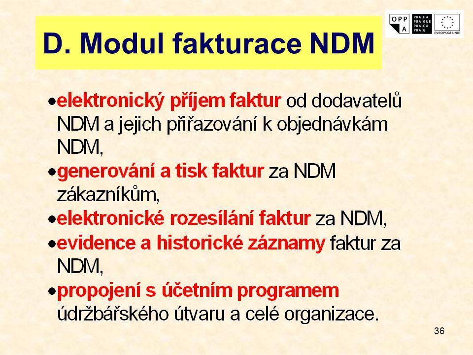 D. Modul fakturace NDM