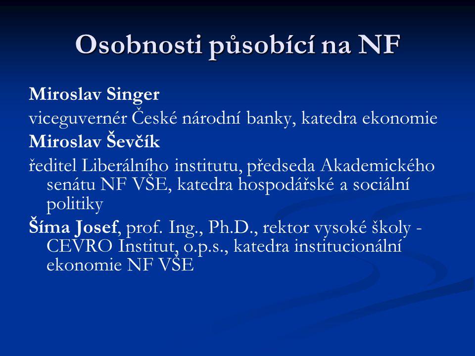 Osobnosti působící na NF