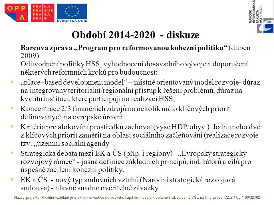 Období 2014-2020 - diskuze