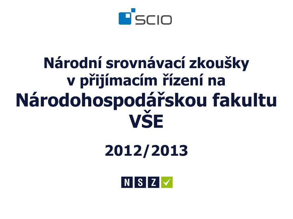 Národní srovnávací zkoušky v přijímacím řízení na Národohospodářskou fakultu VŠE 2012/2013