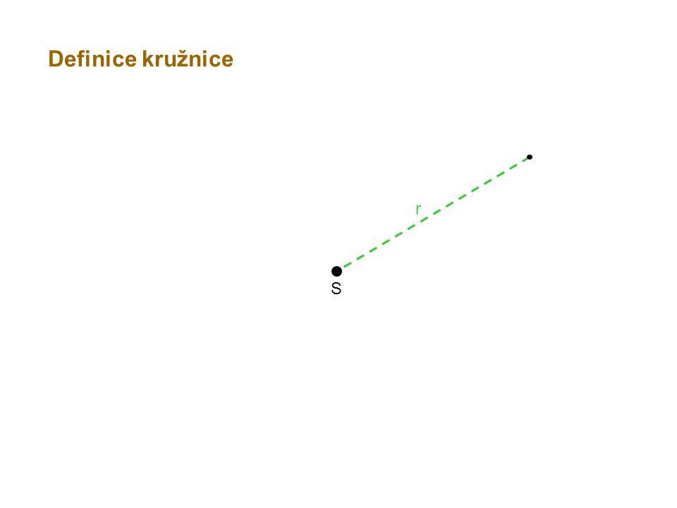 Definice kružnice r S