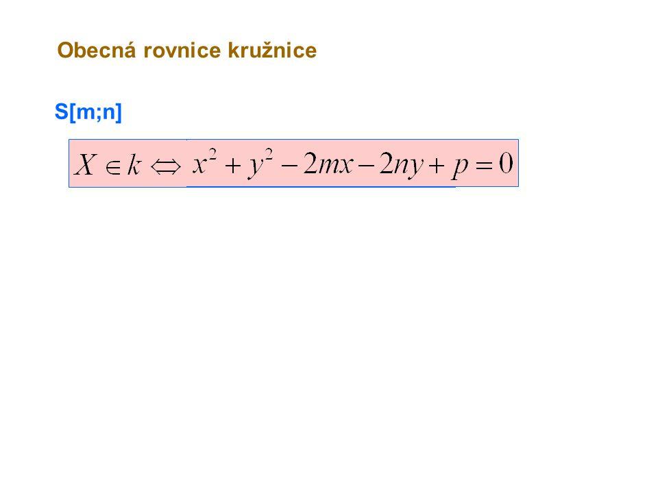 Obecná rovnice kružnice