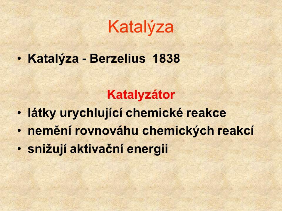 Katalýza Katalýza - Berzelius 1838 Katalyzátor