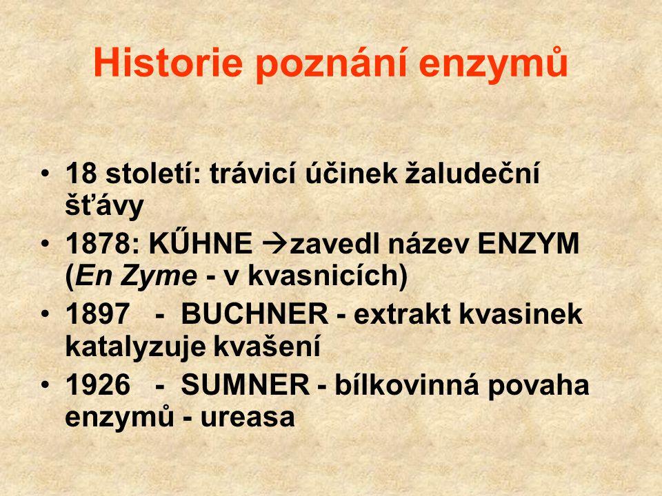 Historie poznání enzymů