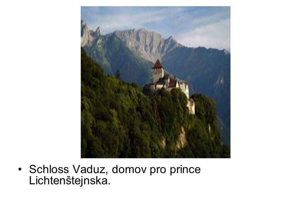 Schloss Vaduz, domov pro prince Lichtenštejnska.