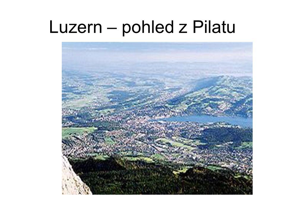Luzern – pohled z Pilatu