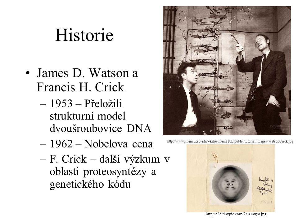 Historie James D. Watson a Francis H. Crick