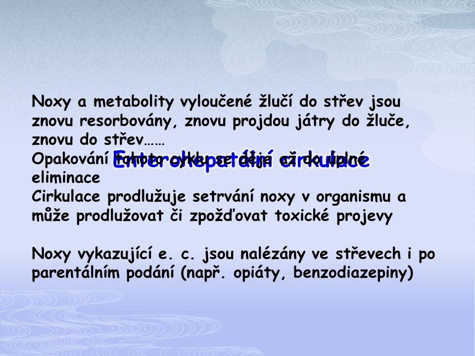 Enterohepatální cirkulace