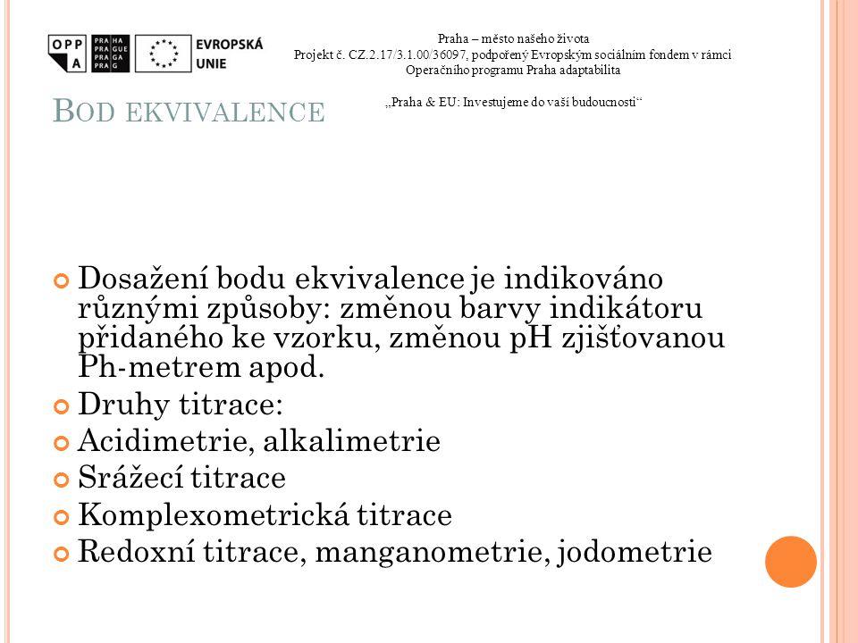 Bod ekvivalence Praha – město našeho života. Projekt č. CZ.2.17/3.1.00/36097, podpořený Evropským sociálním fondem v rámci.