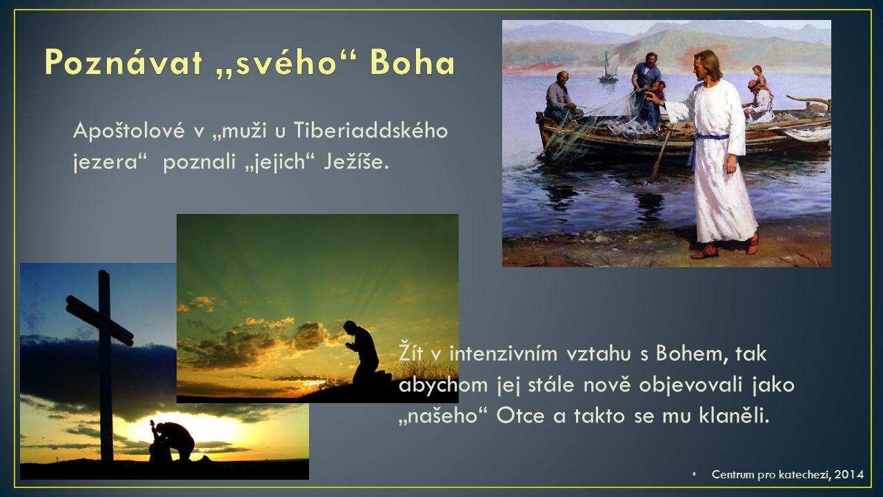 """Poznávat """"svého Boha Apoštolové v """"muži u Tiberiaddského jezera poznali """"jejich Ježíše."""