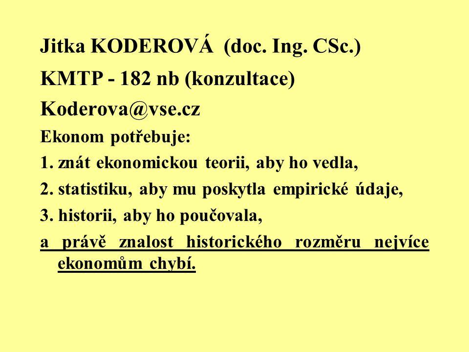 Jitka KODEROVÁ (doc. Ing. CSc.)
